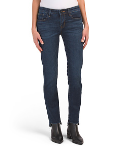 Amelia Straight Jeans With Step Hem