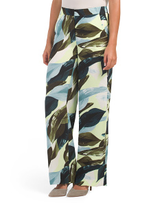 Breezy Leaves Wide Leg Pants
