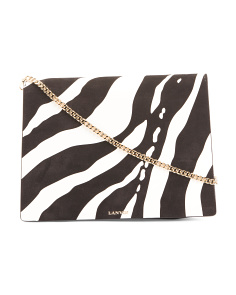 Made In Italy Zebra Calfskin Leather Crossbody