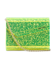 Made In Italy Disco Glamour Glitter Clutch