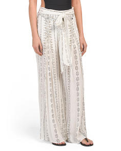 Printed Beach Cover-up Pants