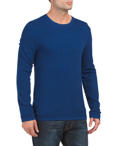 Wool Double Layer Crew Neck Sweater