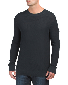 Mesh Crew Neck Sweater
