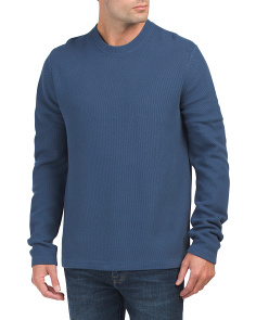 Reverse Tuck Stitch Crew Neck Top