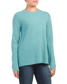 Pleated Back Cashmere Pullover Sweater