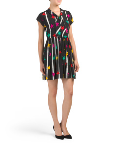 Made In Italy Printed Silk Dress