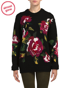 Made In Italy Wool Floral Heavy Sweater