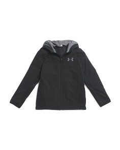 Boys Full Zip Hoodie Warm Up Top