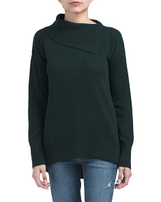 Cashmere Fold Over Neck Sweater