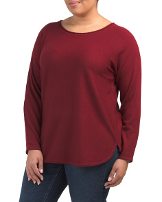 Plus Scoop Neck Merino Wool Sweater