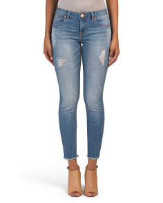 Destruction Scallop Hem Jeans