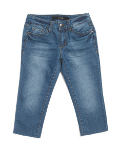 Big Girls Mid Rise Cropped Jeans