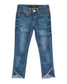 Little Girl Mid Rise Skinny Ankle Jeans