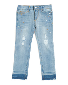 Little Girl Mid Rise Straight Jeans