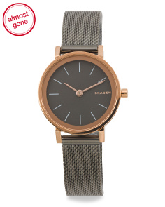 Women's Hald Two Tone Mesh Strap Watch