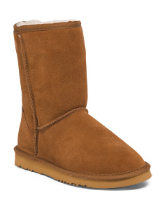 Mid Shaft Cozy Suede Boots