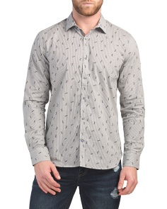 Long Sleeve Modern Dragonfly Print Shirt