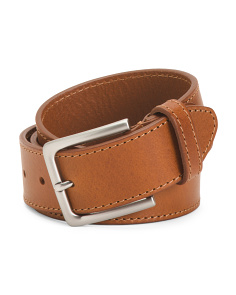 Made In Italy Leather Oily Belt
