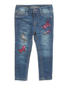 Toddler Girls Unicorn Skinny Jeans