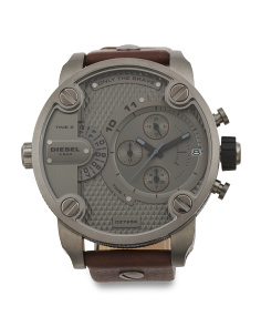 Men's Chronograph Little Daddy Leather Strap Watch