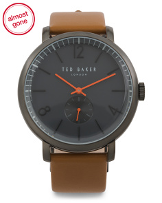 Men's Oliver Leather Strap Watch