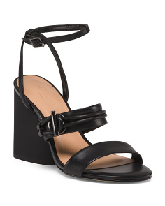 Leather Ankle Strap Dress Sandals