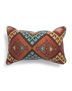 Made In Usa 14x22 Textured Aztec Pillow