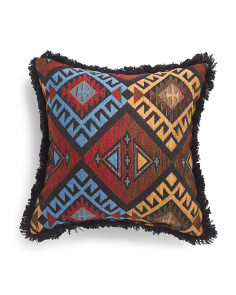 Made In Usa 20x20 Textured Aztec Pillow