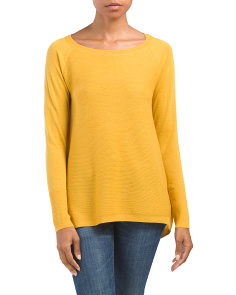 Merino Wool Textured Pullover Sweater