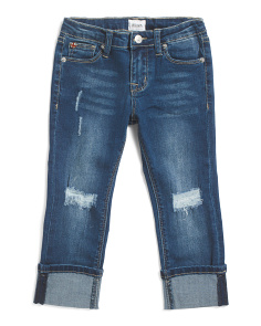 Little Girls Cropped Skinny Jeans