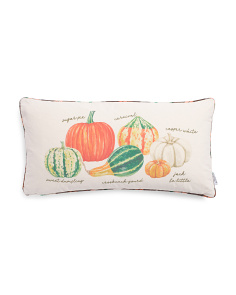 14x27 Types Of Gourds Plaid Pillow