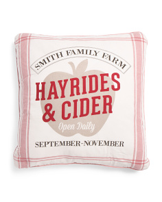 22x22 Hayrides & Cider Pillow