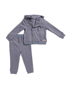 Toddler Boys 2pc Asymmetrical Fleece Hoodie & Jogger Set