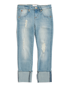 Big Girls Rolled Cuff Cropped Jeans