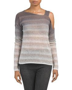Striped Dip Dyed Cashmere Sweater