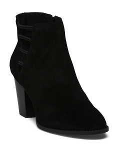 Side Cutout Suede Booties