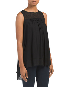 Sleeveless Top With Novelty Yoke