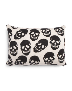 Made In India 16x24 Knit Skull Pillow