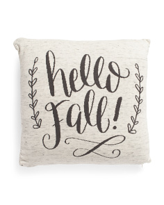 Made In India 20x20 Hello Fall Pillow