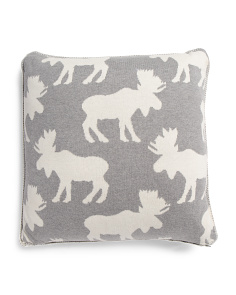 Made In India 20x20 Knit Deer Pillow