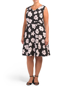 Plus Crepe A-line Dress