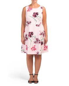 Plus Floral Crepe Dress
