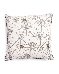 Made In India 20x20 Spider Web Pillow
