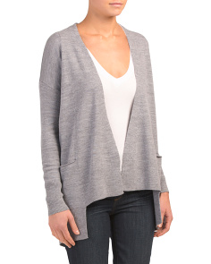 Merino Wool Drape Neck Cardigan