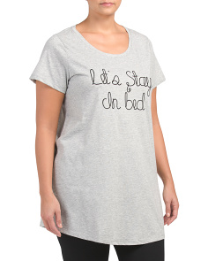 Plus Let's Stay In Bed Nightshirt