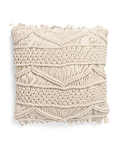 Made In India 20x20 Macrame Pillow