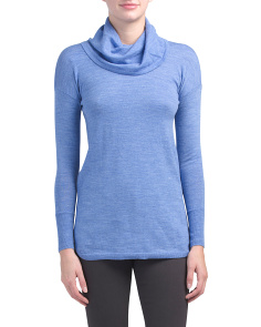 Merino Wool Cowl Neck Tunic