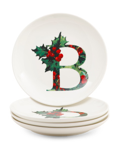 4pk Holly Initial App Plates