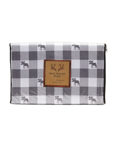 Moose Crossing Flannel Sheet Set