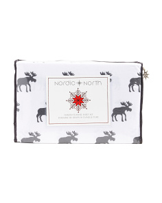 Luxe Moose Flannel Sheet Set